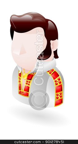 rocker illustration stock vector clipart, Illustration of Elvis style rocker by Christos Georghiou