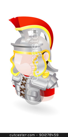 roman soldier icon stock vector clipart, Illustration of a Roman soldier by Christos Georghiou