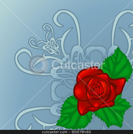 rose illustration stock vector clipart, floral rose design element  by Christos Georghiou