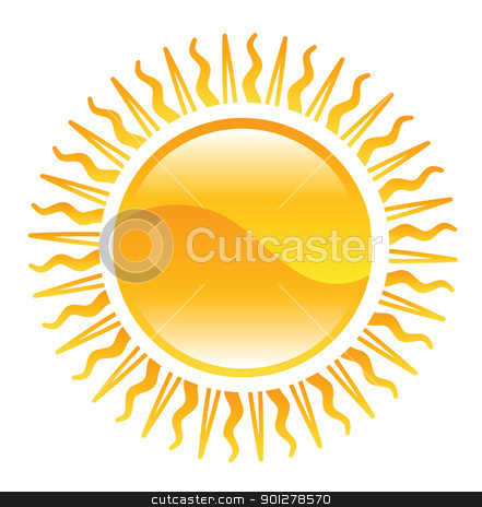 shiny sun illustration stock vector clipart, Illustration of shining sun by Christos Georghiou