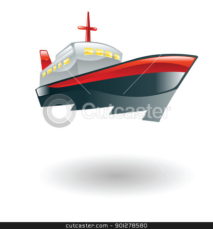 ship illustration stock vector clipart, Illustration of a ship by Christos Georghiou