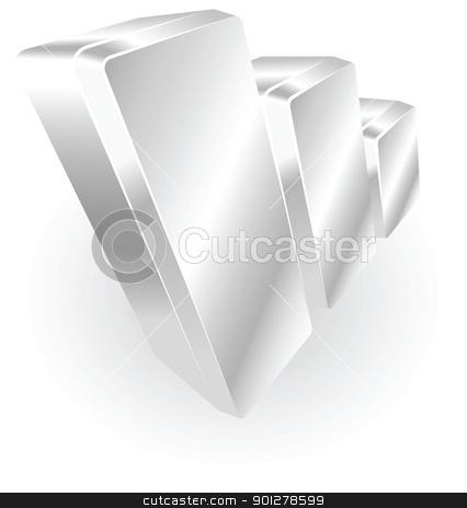 silver metallic graph stock vector clipart, Illustration of a silver metallic graph by Christos Georghiou