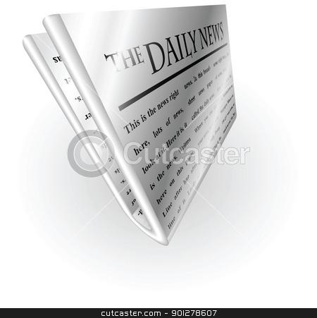 silver metallic news paper stock vector clipart, Illustration of a silver metallic newspaper by Christos Georghiou