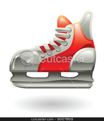 skate Illustration stock vector clipart, Illustration of an ice skate by Christos Georghiou