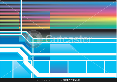 Retro neon 80s background  stock vector clipart, A Retro neon 80s background  by Christos Georghiou