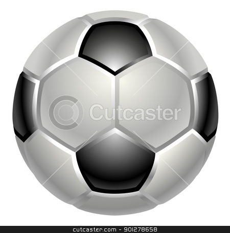 football or soccer ball icon stock vector clipart, A shiny glossy football or soccer ball icon by Christos Georghiou