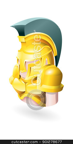 spartan illustration stock vector clipart, Illustration of a Spartan by Christos Georghiou