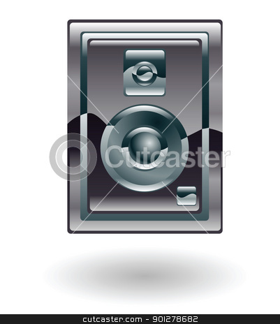 speaker Illustration stock vector clipart, Illustration of a speaker by Christos Georghiou