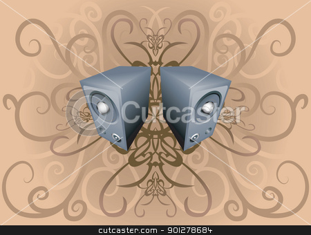 speakers abstract illustration stock vector clipart, speakers on background  by Christos Georghiou