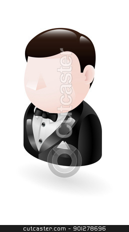 spy illustration stock vector clipart, Illustration of a spy in a tuxedo by Christos Georghiou