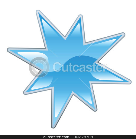 star illustration stock vector clipart, Illustration of a blue star by Christos Georghiou