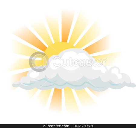 sun and cloud illustration stock vector clipart, sun and cloud  by Christos Georghiou