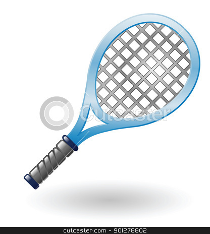tennis racket stock vector clipart, Illustration of a tennis racket by Christos Georghiou