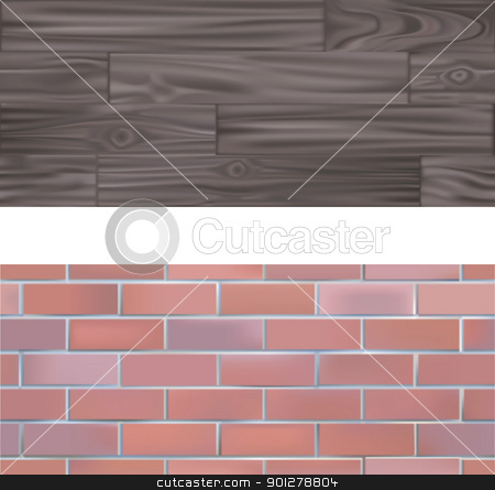 Brick and wood  seamlessly tileable Textures stock vector clipart, Brick and wood Textures seamlessly tileable  by Christos Georghiou