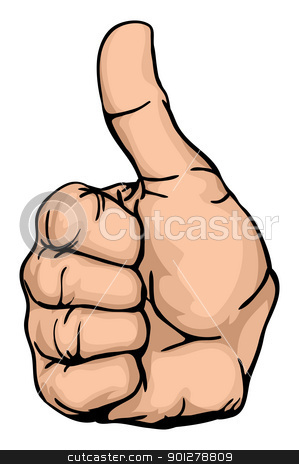 thumbs up stock vector clipart, thumbs-up an illustration of a human hand giving the thumbs-up  by Christos Georghiou