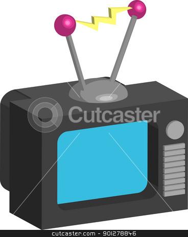 tv Illustration stock vector clipart, Retro style tv illustration  by Christos Georghiou