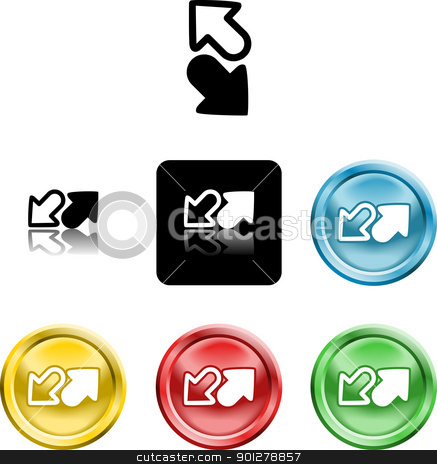 arrows icon symbol stock vector clipart, Several versions of an icon symbol of stylised arrows symbolising send receive or upload download  by Christos Georghiou