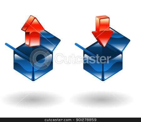 upload download  Illustration stock vector clipart, Illustration of upload and download icons by Christos Georghiou