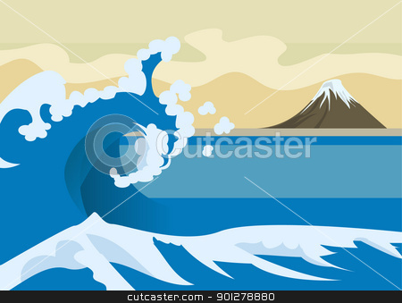 wave background stock vector clipart, Wave background  by Christos Georghiou
