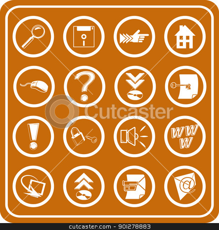 Web and Computing icons stock vector clipart, Web and Computing icons  by Christos Georghiou