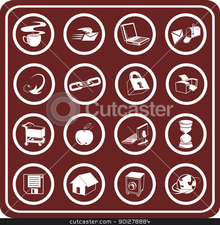 Web and Computing icons stock vector clipart, Web and Computing icons.  by Christos Georghiou