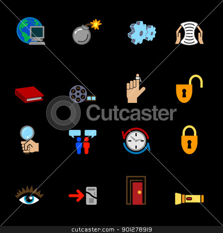 internet web icons stock vector clipart, A series of internet web icons set.  by Christos Georghiou