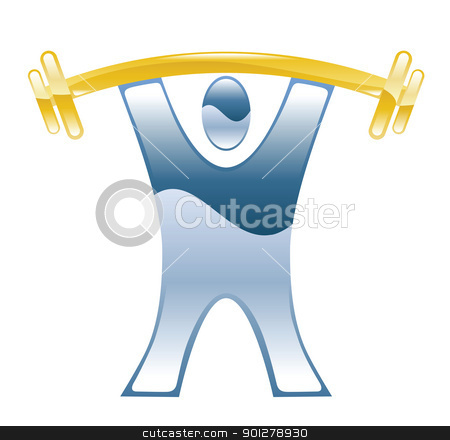 weightlifter Illustration stock vector clipart, Illustration of a weightlifter by Christos Georghiou