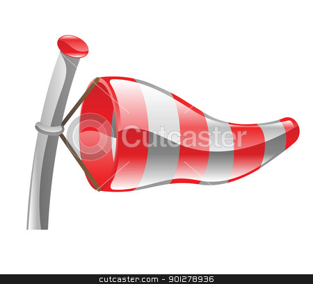 windsock illustration stock vector clipart, Illustration of a windsock by Christos Georghiou