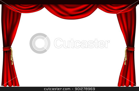 Theatre or cinema curtains stock vector clipart, A set of theatre or cinema style curtains by Christos Georghiou