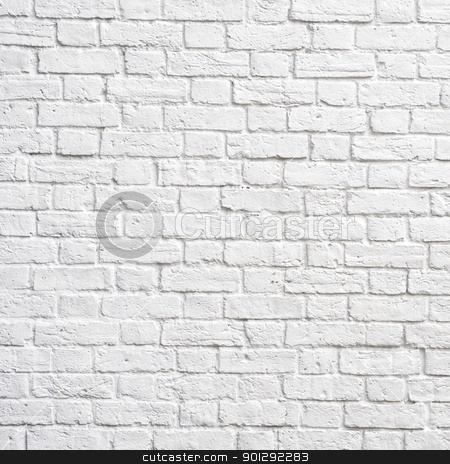 White brick wall stock photo, White brick wall, perfect as a background, square photograph by Dutourdumonde