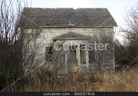 Abandoned Farm House stock photo, An old abandoned farm house on the prairie by Tyler Olson