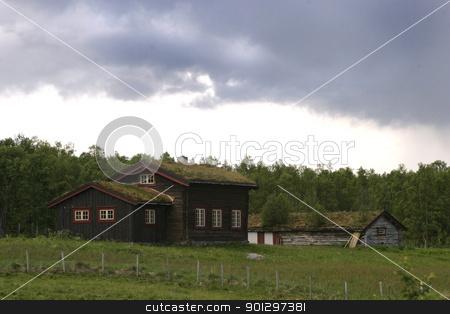 Mountain Cabin stock photo, A mountain cabin in middle norway near roros rros tolga by Tyler Olson