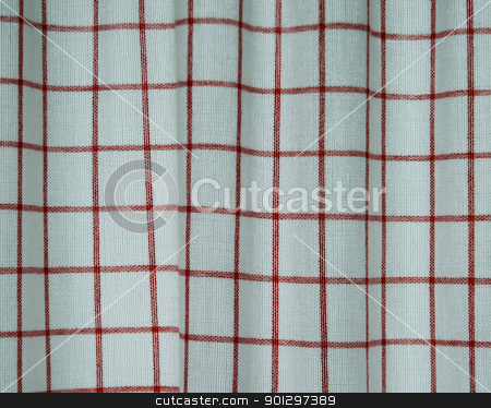 Cloth Curtain Texture stock photo, A plaid cottan cloth texture by Tyler Olson