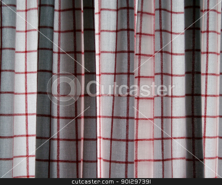 Cloth Curtain Texture stock photo, A plaid cottan cloth texture by Tyler Olson