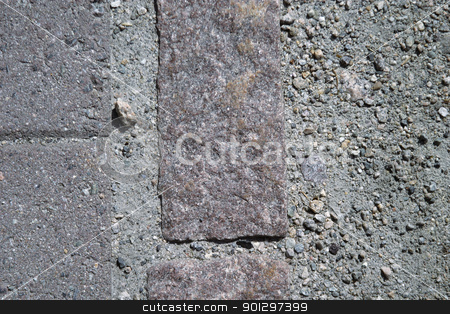 Brick Road Detail stock photo, Detail image of a brick road by Tyler Olson