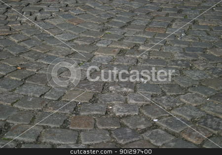 Cobblestone Texture stock photo, Cobblestone Road texture image by Tyler Olson