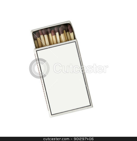 Match Box stock photo, Isolated match box, slightly open, with blank cover by Tyler Olson
