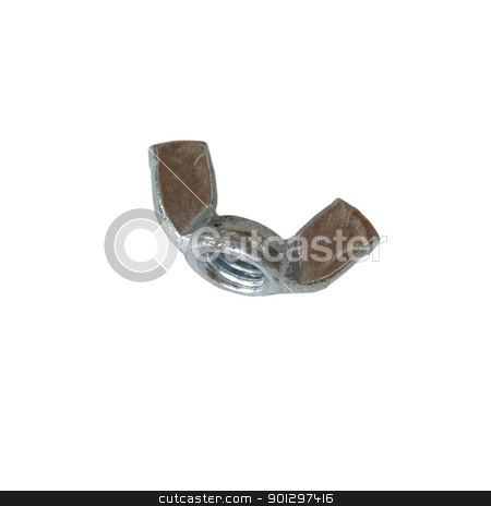 Wing Nut stock photo, Isolated wing nut by Tyler Olson