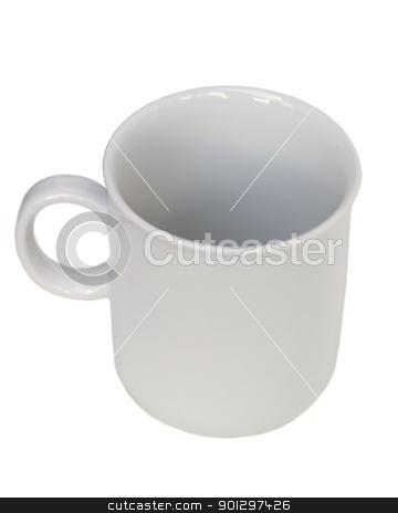 Coffee Mug  stock photo, A white mug isolated on white by Tyler Olson