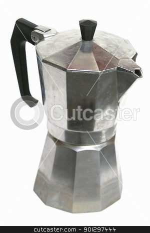 Stove Top Espresso stock photo, stove top mocca espresso maker isolated on white by Tyler Olson