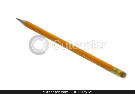 Pencil stock photo, a single pencil sharpened on white by Tyler Olson