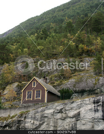Mountain Cabin stock photo,  by Tyler Olson