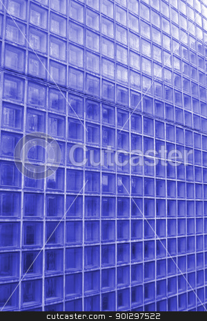 Cube Glass Texture stock photo, Blue cube glass texture image by Tyler Olson