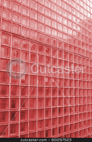 Red Glass Texture stock photo, Red cube glass texture image. by Tyler Olson