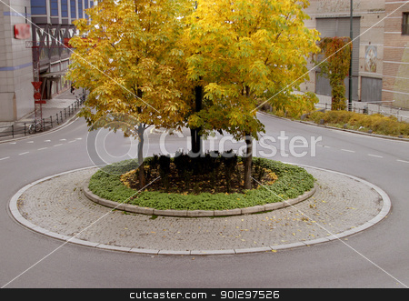 Traffic Circle stock photo, traffic circle in Oslo Norway by Tyler Olson