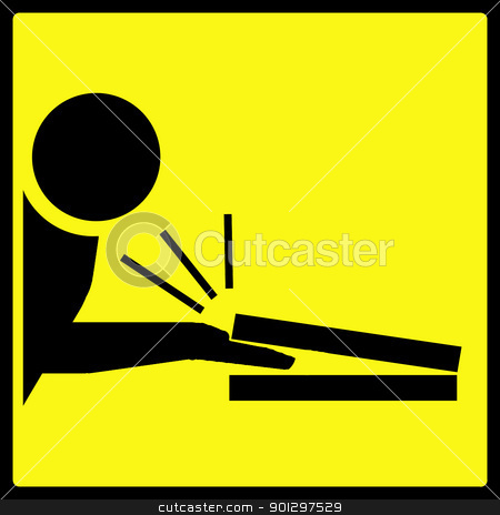 Hand Squished in Computer Warning stock photo, A warning sign with a man getting his fingers squished in a laptop by Tyler Olson