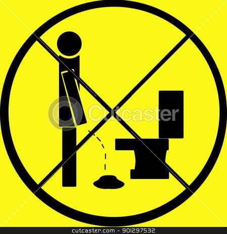 Do Not Pee on Floor stock photo, A warning sign - do not pee on the floor by Tyler Olson