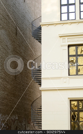 Spiral Staircase stock photo, Spiral staircase detail by Tyler Olson