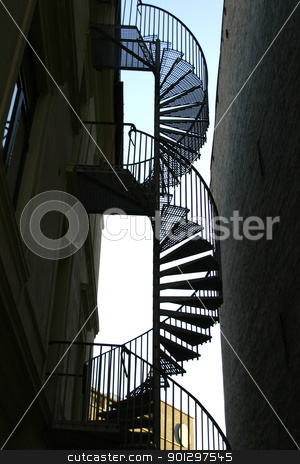 Spiral Staircase Abstract stock photo, Spiral staircase abstract background image by Tyler Olson