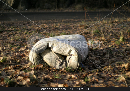 Old Abandoned Mattress stock photo, An abstract image of an old abandoned mattress by Tyler Olson